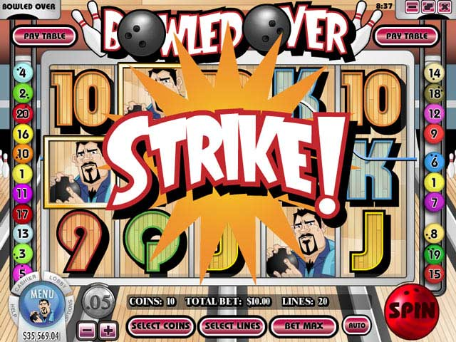 Bowled Over video slot