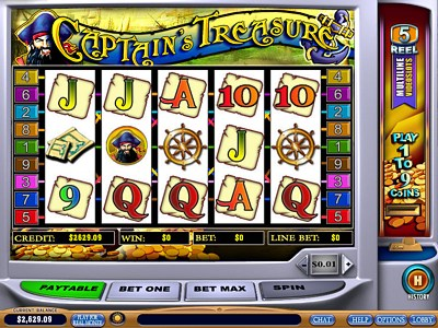 captains treasure video slot