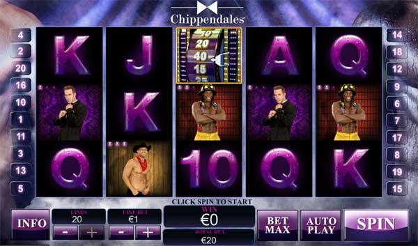 The chippendales Online Slots Game