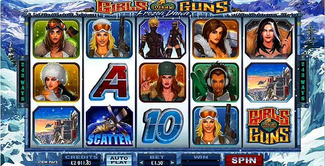 girls with guns 2 video slots game