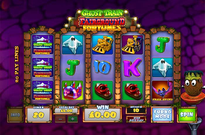 ghost train online slot screen