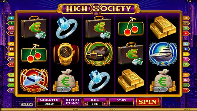 High Society video slots game