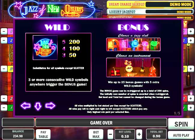 video slots bonus information