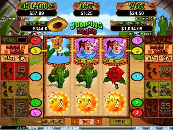jumping beans video slot