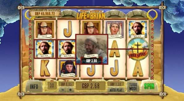 the life of brian video slot