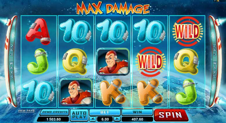 max damage video slot