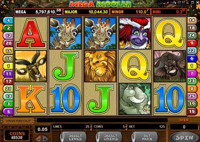 mega moolah progressive slot game