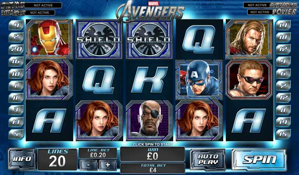The Avengers Marvel Slots