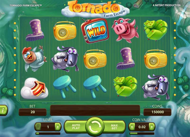 tornado farm escape video slot screen