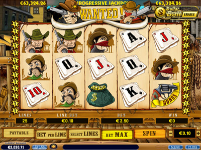 wanted video slot