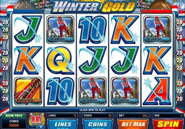 winter gold video slot