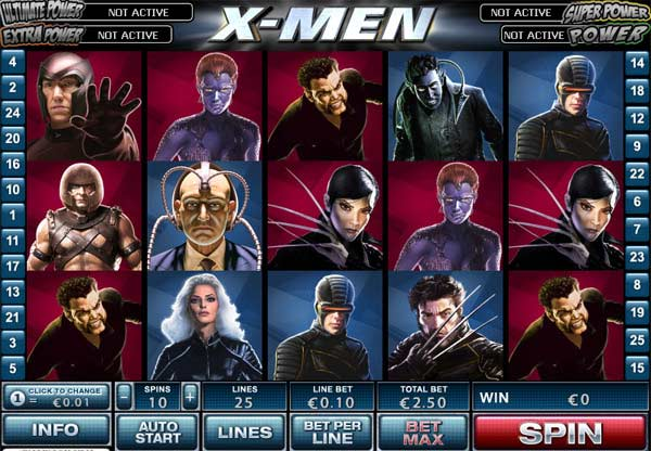 X-Men Slot Game